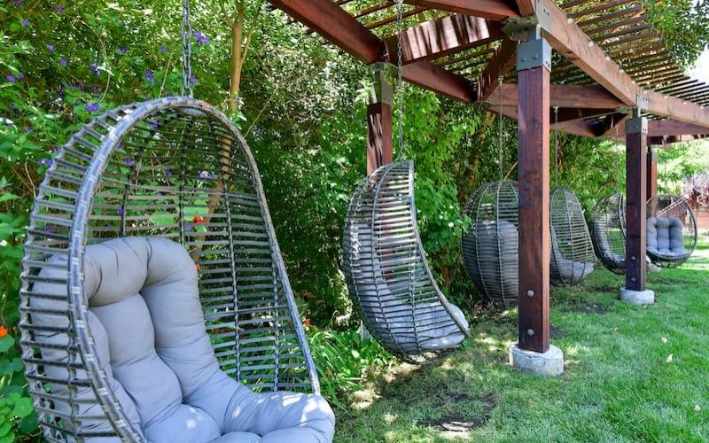 hammock garden showing floating seating